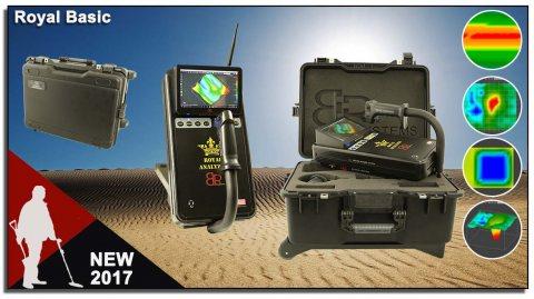 احدث جهاز كاشف للذهب والكهوف الفراغيه 2017  ROYAL BASIC